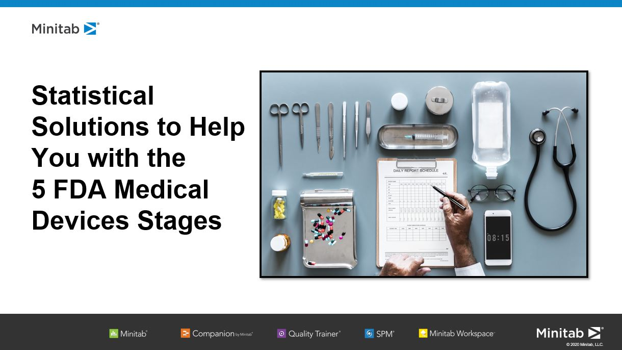 Statistical Solutions to Help You with the 5 FDA Medical Devices Stages