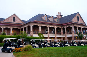 Golf- Clubhouse with Golf Carts by Eric G. Flickr- cowboyEricGVSU