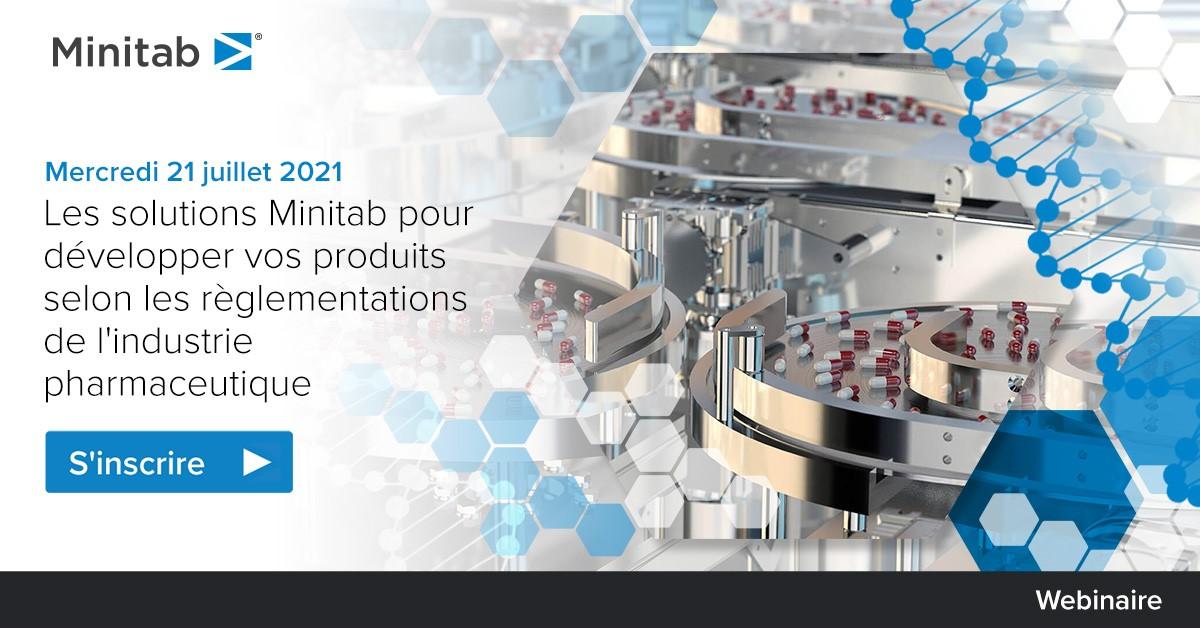 Webinaire Minitab : Les solutions Minitab pour développer vos produits selon les réglementations de l'industrie pharmaceutique